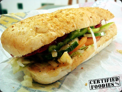 Subway Spicy Italian Sandwich - Parmesan Oregano bread and Sweet Onion Sauce - CertifiedFoodies.com
