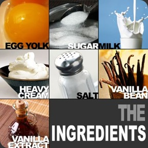 homemade French Vanilla Ice Cream ingredients - CertifiedFoodies.com