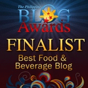2011 Philippine Blog Awards Best Food and Beverage Blog Finalist