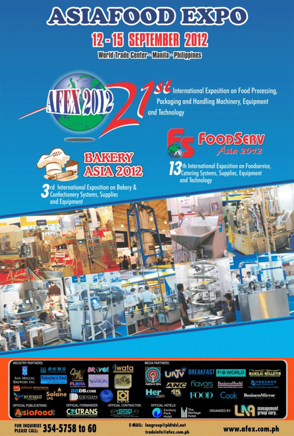 Asia Food Expo 2012 - Happening on September 12 to 15, 2012
