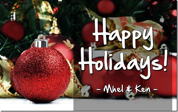 Happy Holidays from Mhel and Ken of Certified Foodies