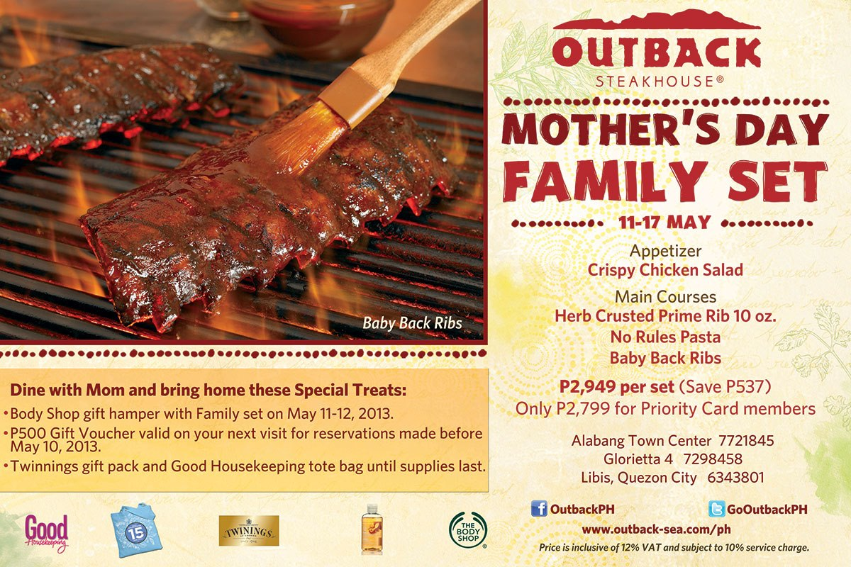 Outback Steakhouse's Mother's Day Family Set