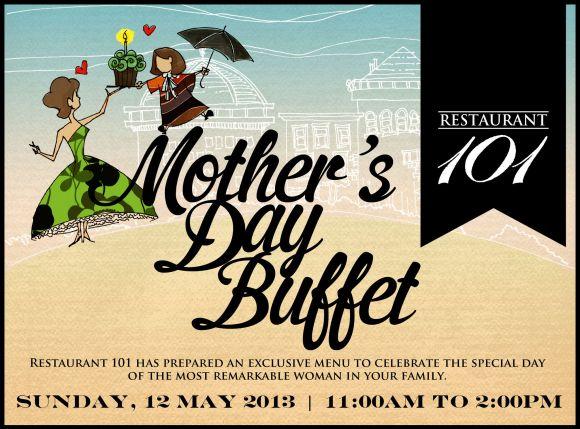 Restaurant 101 Mother's Day buffet for Brunch