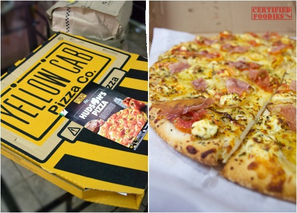 Yellow Cab's Mrs. Hudson's Pizza