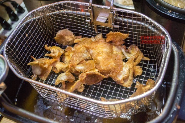 Fried Oyster Mushrooms by Ping Gu