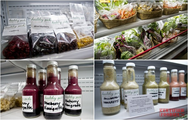 Sugarleaf sells these homemade salad dressings dried berries and more