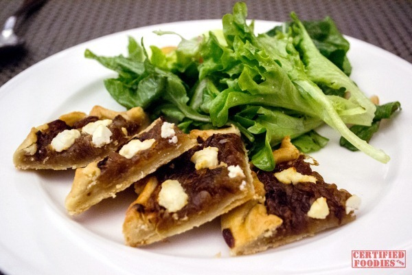 The Cake Club - Caramelized Onion and Goat Cheese Tart Salad