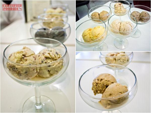 The Cake Club's ice cream flavors