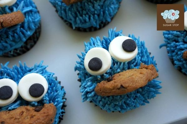 Cookie Monster Cupcakes by Sugar Stop