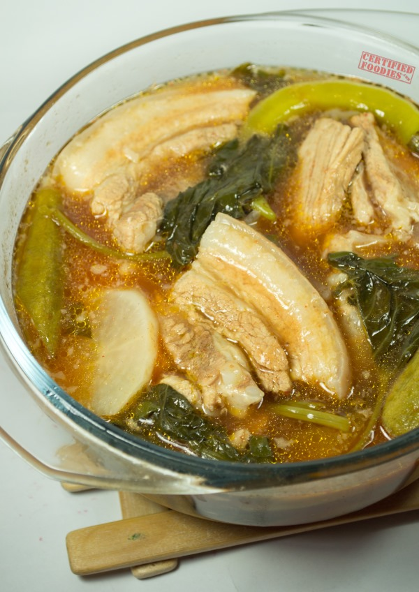 Del Monte Red Pork Sinigang recipe with tomato sauce