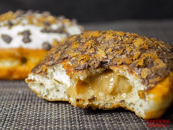 Krispy Kreme Speculoos Dark Chocolate Vanilla Cookie Butter doughnut - bite me