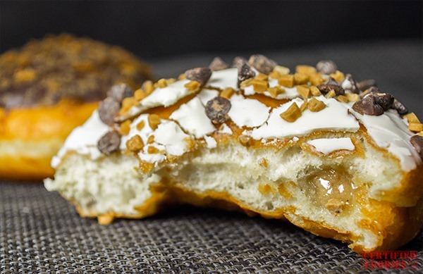 Krispy Kreme Speculoos White Chocolate Vanilla Cookie Butter doughnut -bite me