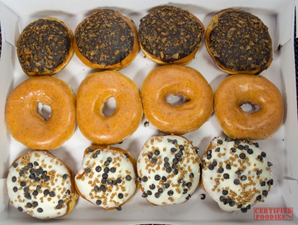 Speculoos Cookie Butter and Original Glazed doughnuts from Krispy Kreme