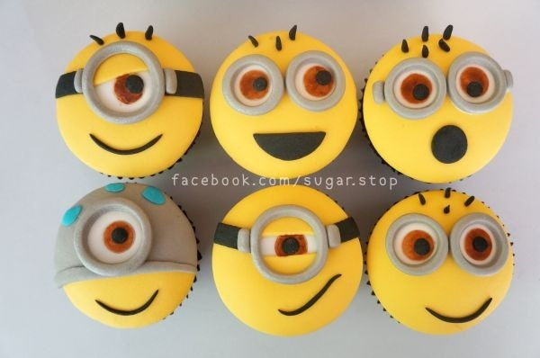 Sugar Stop Minion Cupcakes - double chocolate flavor