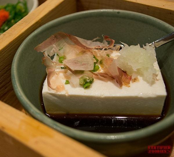 Yabu - Hiyayakko Tofu appetizer