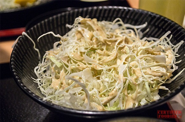 Yabu unlimited cabbage with sesame dressing