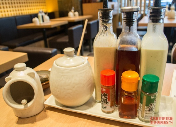Yabu's salad dressings, sauces and spices to elevate your Katsu experience