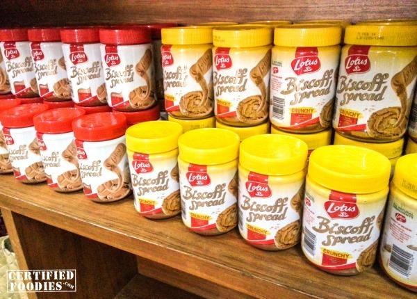 Biscoff Cookie Butter bottles displayed at The Food Bin