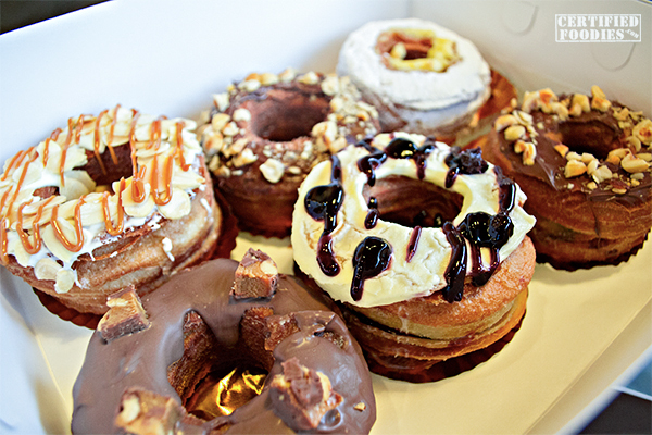 Dolcelatte offers croughnuts in various flavors