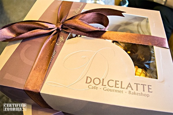 Dolcelatte's box of croughnuts - so posh!