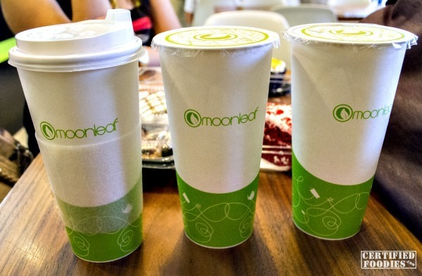 Moonleaf Tea Shop Milk Teas - hot and cold