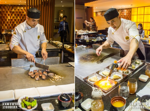 Executive Sous Chef Lester Altara manning our teppanyaki table