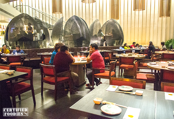 Inside Wafu, a Japanese stlye restaurant in Greenhills