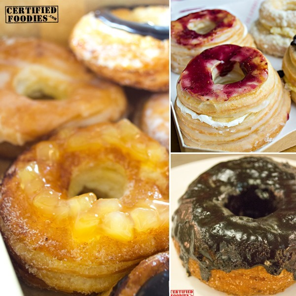Local cronuts from Krispy Kreme, Le Coeur de France and Anybody Coffee