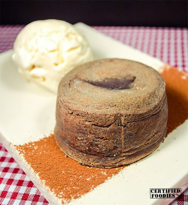 Molten Chocolate Cake with Vanilla Ice Cream