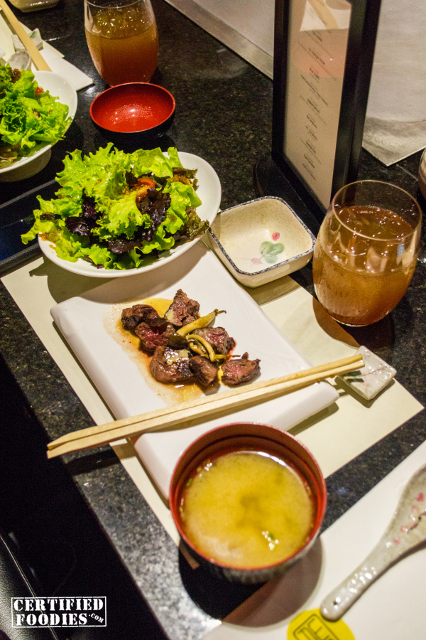 WAFU Greenhills Teppanyaki Omakase Buffet - appetizers