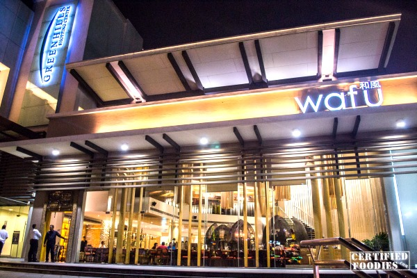 Wafu Japanese restaurant at Greenhills Shopping Center