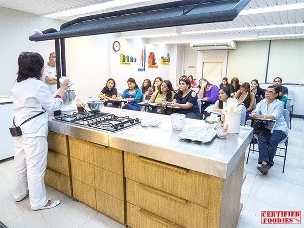The Burp Society watching Ms. Rory Subida's baking demo