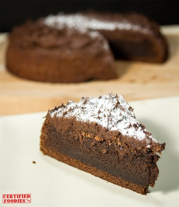 A slice of our moist chocolate torte