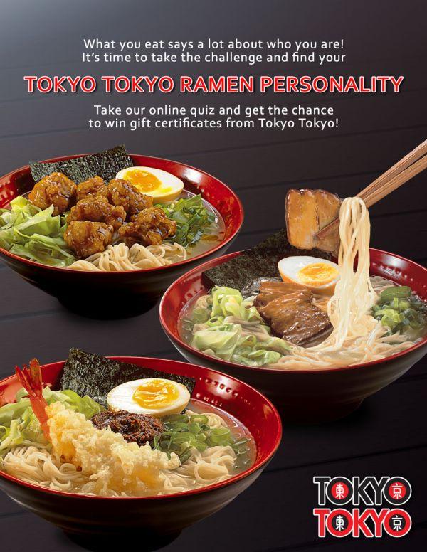 Tokyo Tokyo Ramen Personality