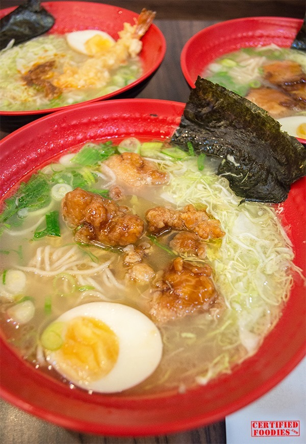 Tokyo Tokyo Ramen comes in 3 flavors - Braised Pork, Spicy Chicken and Tempura Miso
