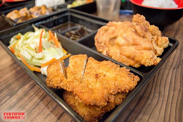Tokyo Tokyo Sumo Meal of Pork Tonkatsu and Chicken Karaage