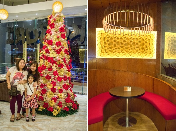 Koko Buri Restaurant with their giant Christmas tree