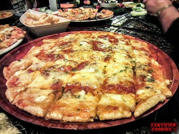 Cheesy pizza from Bohol Bee Farm
