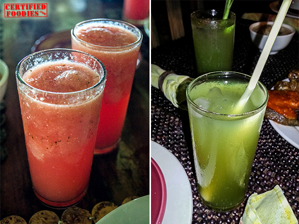 Delicious juice drinks at Bohol Bee Farm