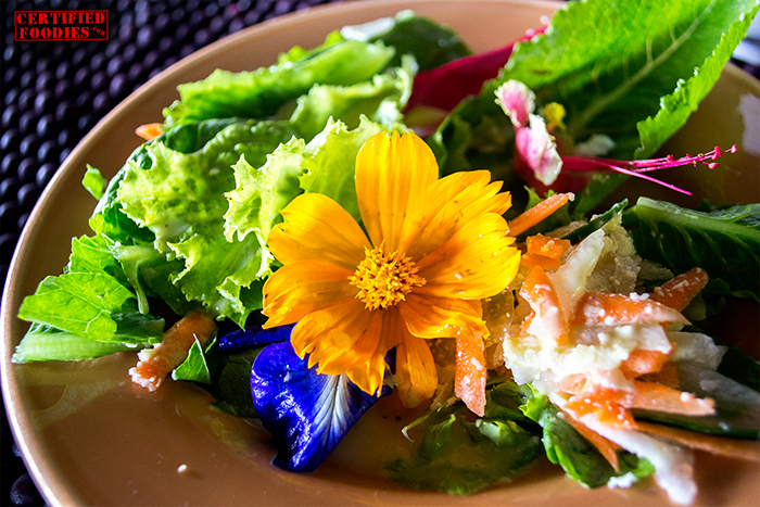Flower Salad at Bohol Bee Farm