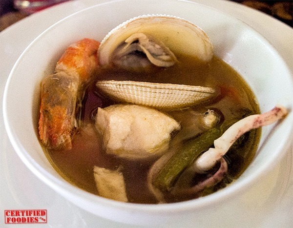 Seafood soup at Bohol Bee Farm