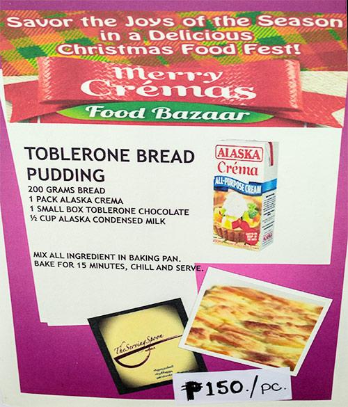 Toblerone Bread Pudding Recipe