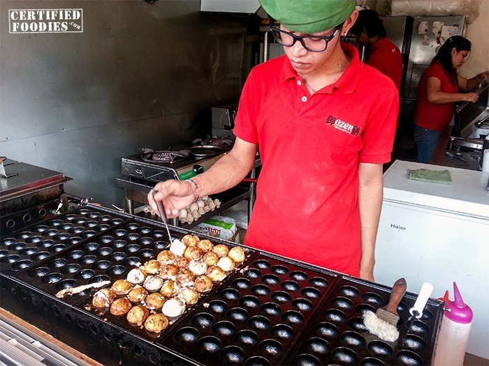 Busy preparing our Takoyaki balls at OZEN Japanese Food