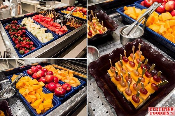 Fresh fruits at Spiral's buffet