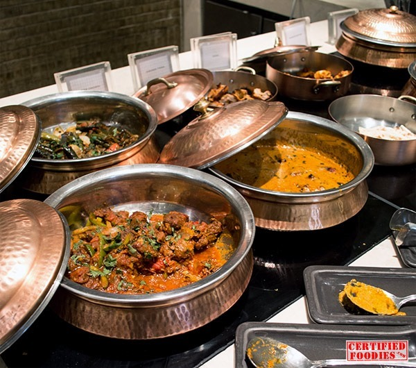 Indian dishes at Spiral's buffet