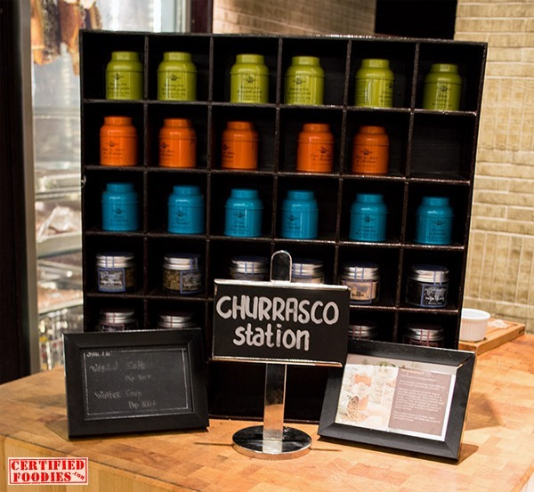 Spiral 2Go items at the Churrasco station