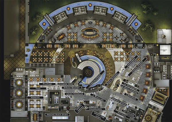 Spiral's buffet - Map of their 21 ateliers