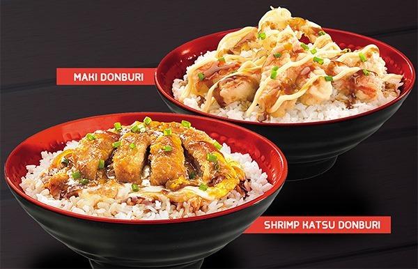 Tokyo Tokyo Maki and Shrimp Katsu Donburi