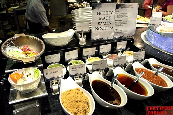 Ingredients for fresh ramen at Vikings SM Megamall