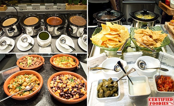 Sauces for the meats, tapas bar and nachos
